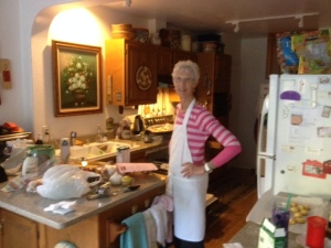 Meet Sylvia - cooking another healthy dinner!